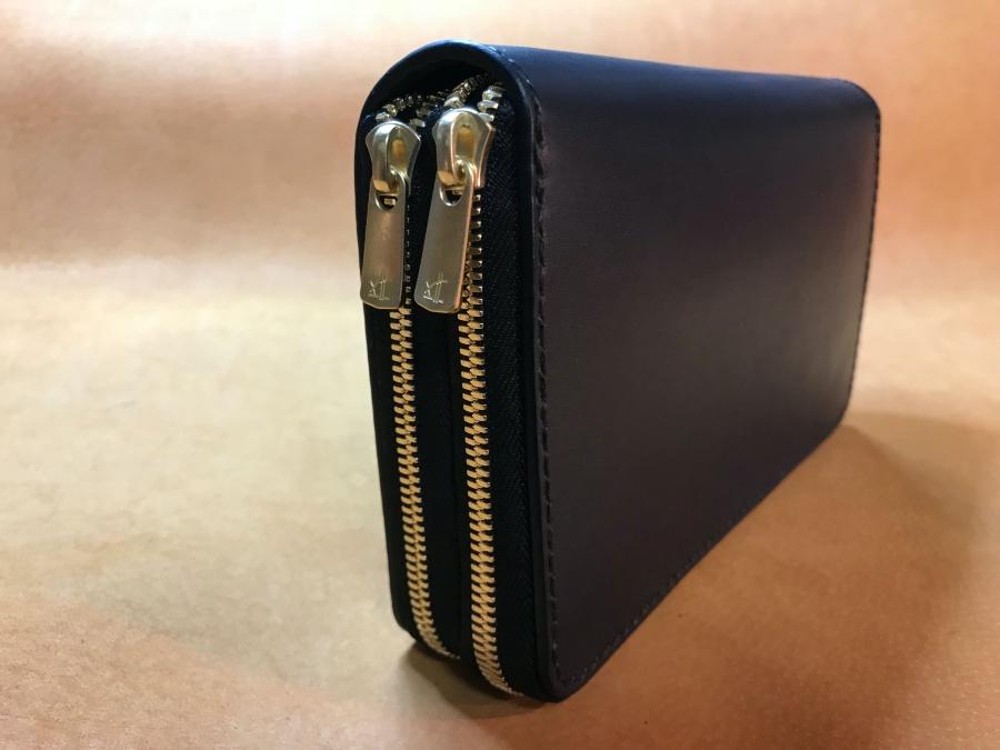 ラウンドファスナー財布(ツインファスナー)