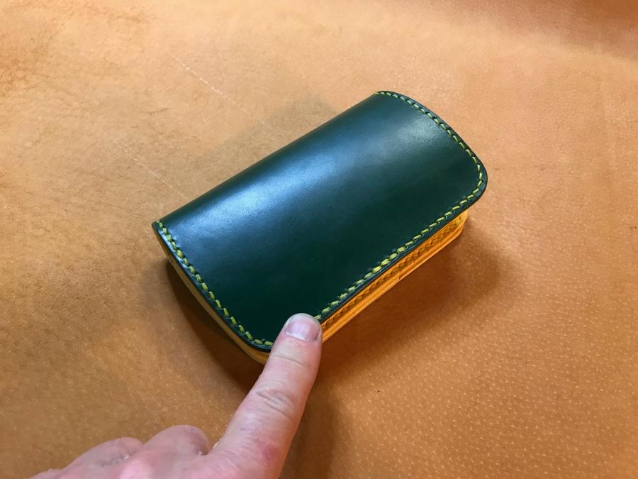 2つ折革財布(ブライドルレザー)