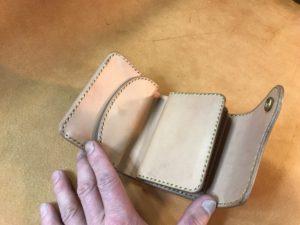 3折革財布(ハーフサイズ)