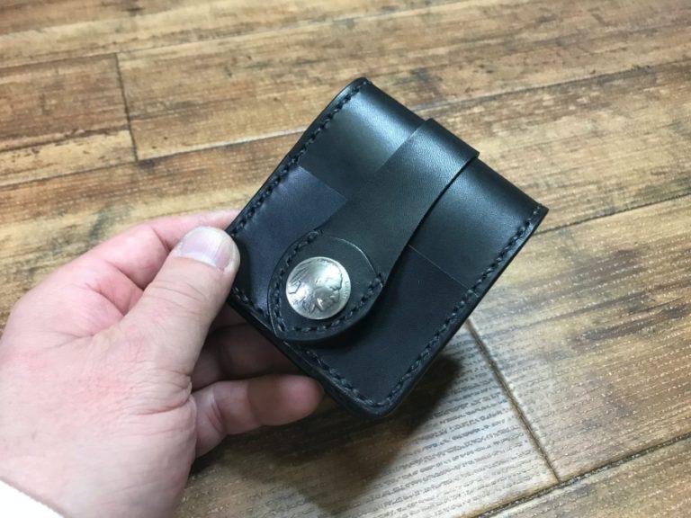 オーダー2つ折革財布